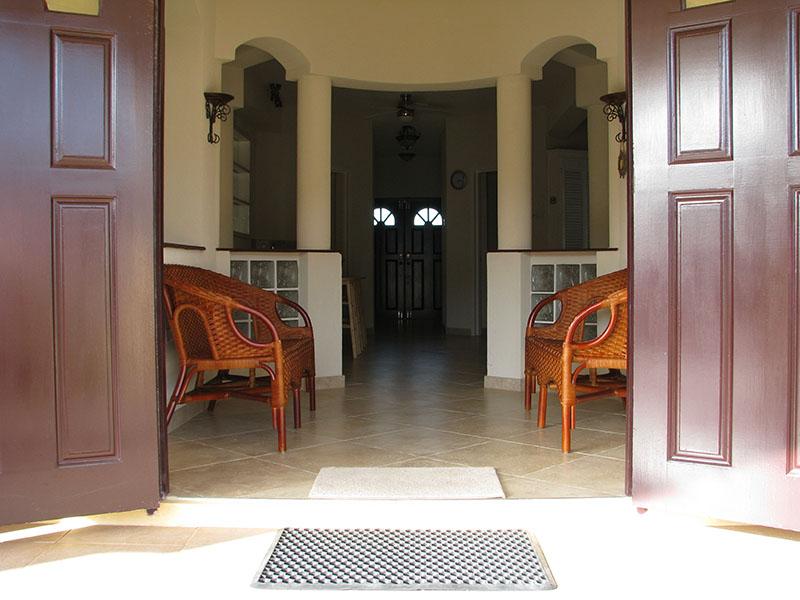 villa a hallway front maya s bajan villas